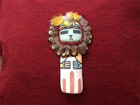 私のお守り「サンフェイスのカチナドール(ホピ族の精霊)」