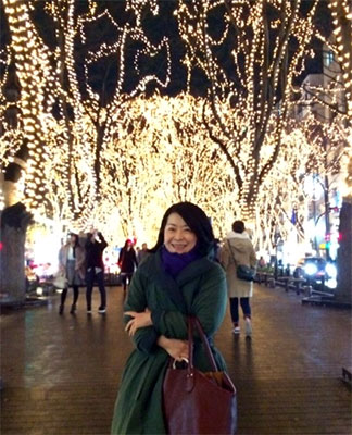 初雪舞う仙台にて