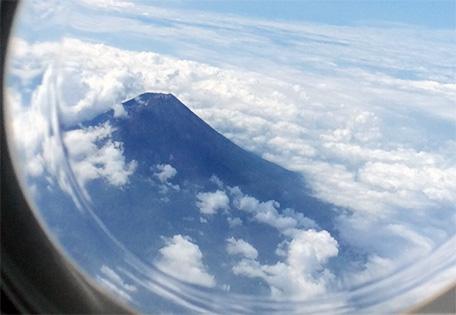 上からの富士山